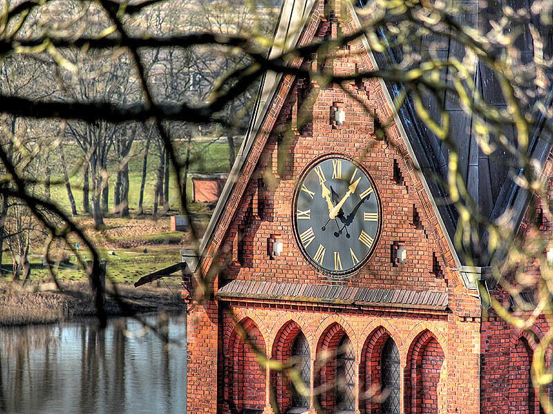 Kirchturmuhr der Maria-Magdalenen-Kirche in Lauenburg