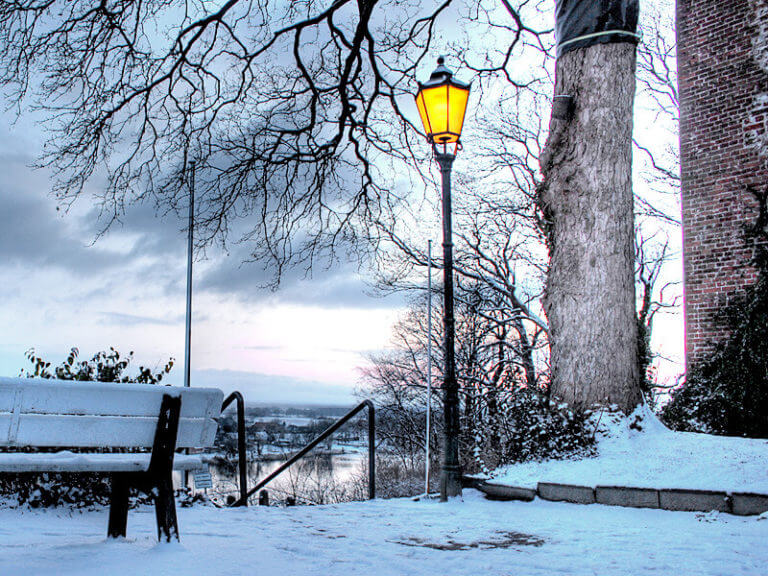 Winter am Schloss in Lauenburg/Elbe