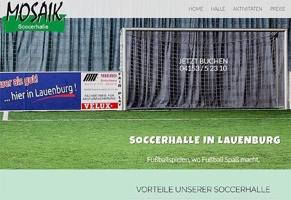Screenshot Referenz Soccerhalle Lauenburg