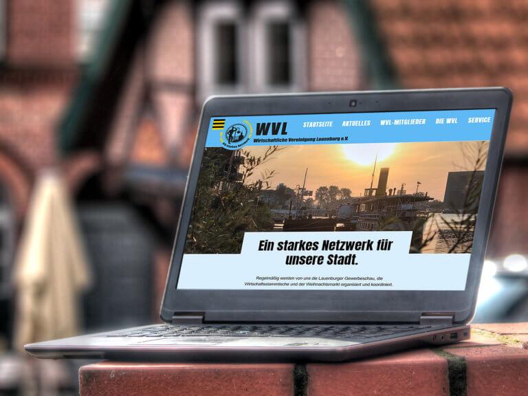 Webauftritt der Wirtschaftlichen Vereinigung Lauenburg